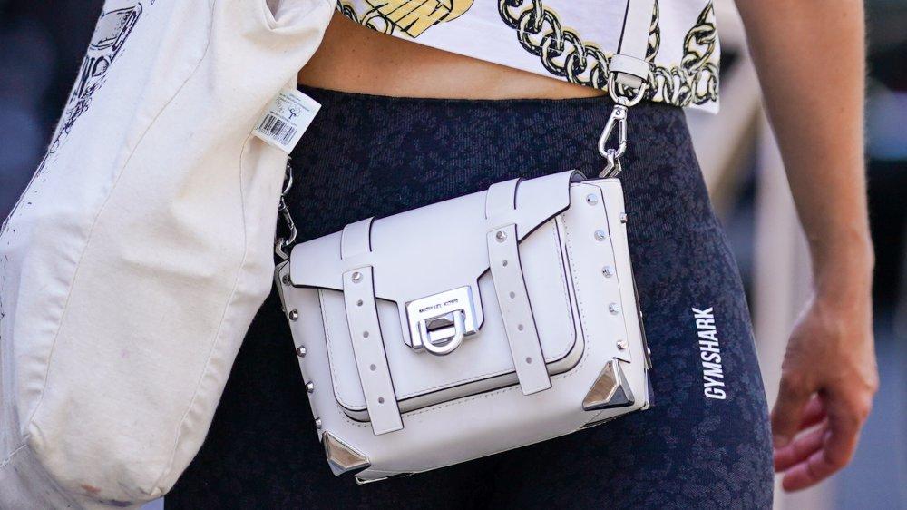 White Michael Kors leather bag