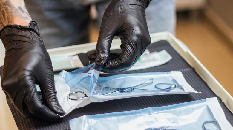 piercing studio equiptment