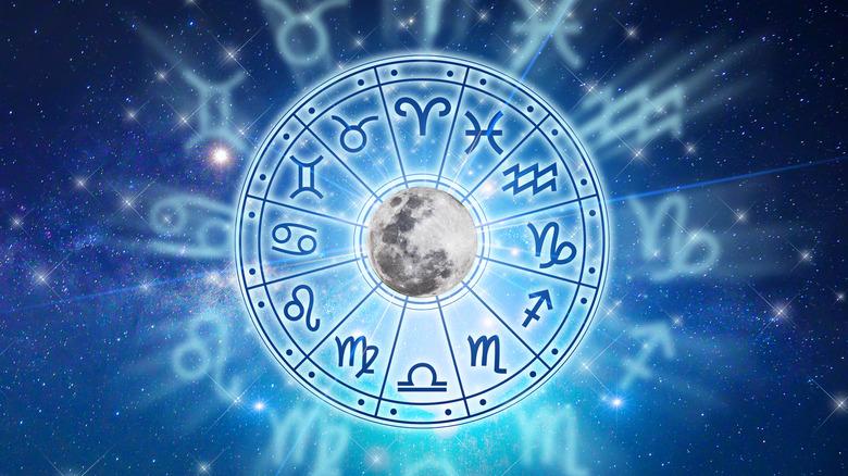 Astrology zodiac in the stars