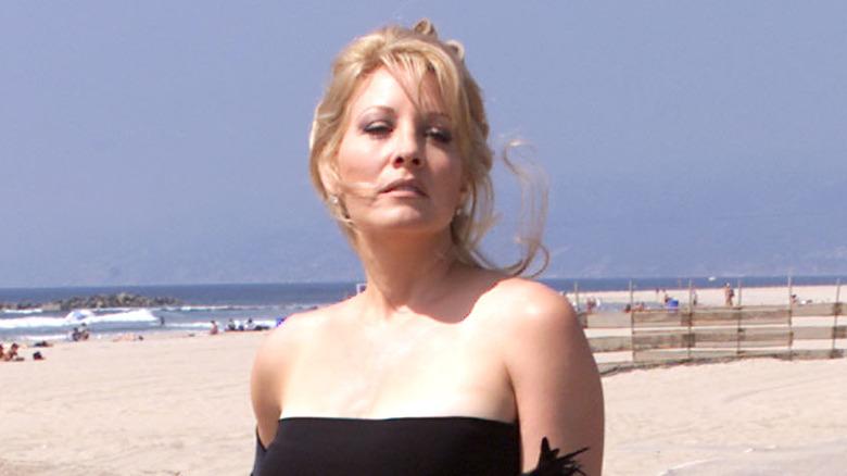 Linda Kozlowski on the beach