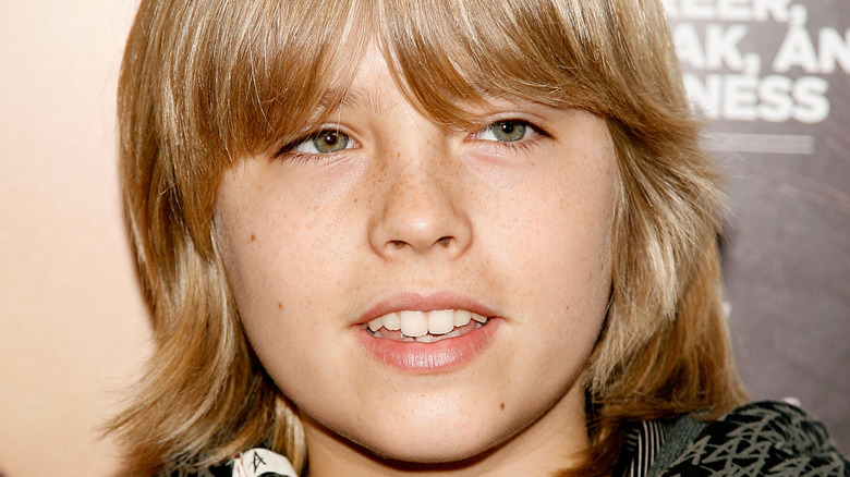 Cole Sprouse posing