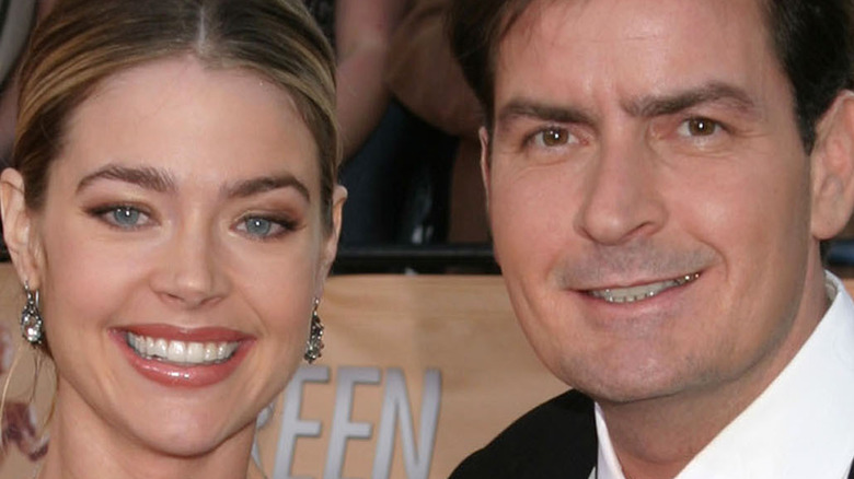 Denise Richards and Charlie Sheen when they were a couple