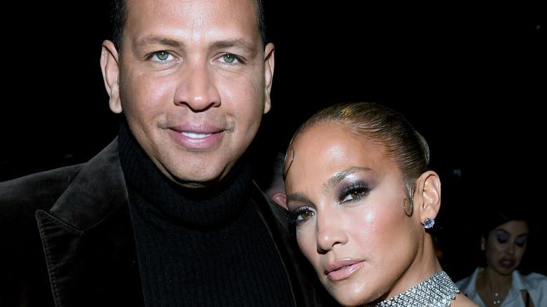 Jennifer Lopez and Alex Rodriguez at an event.