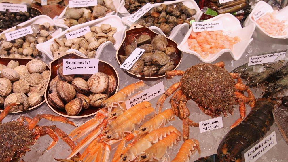 Shellfish at a German market
