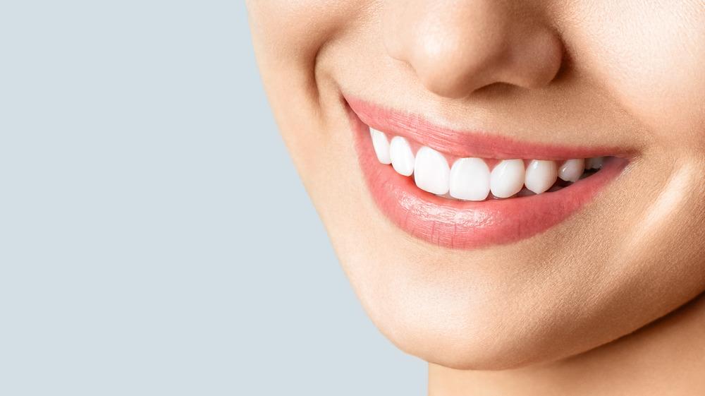 A white smile