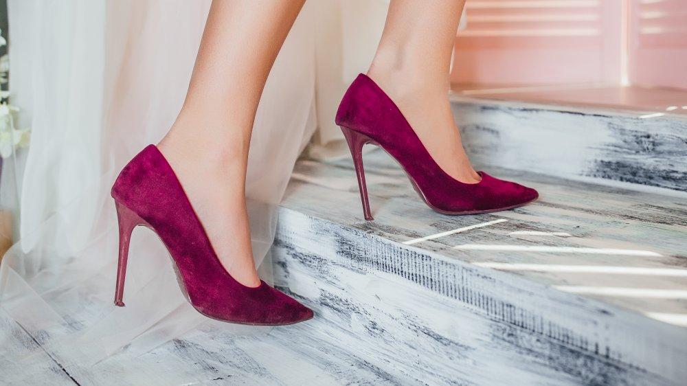 A woman wearing heels