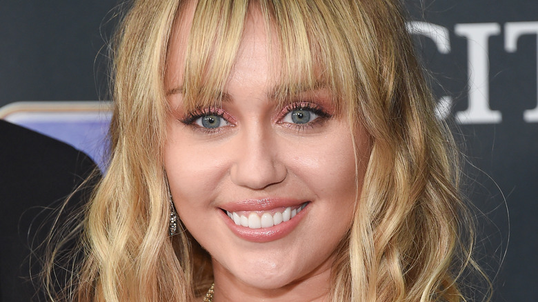 Miley Cyrus smiling