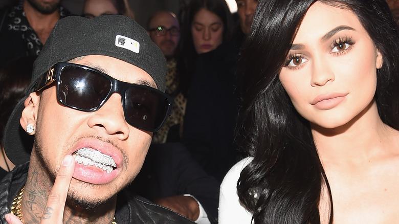 Tyga and Kylie Jenner posing