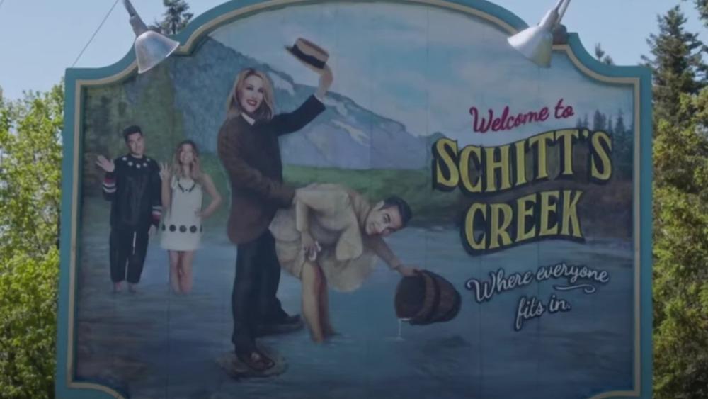 Schitt's Creek welcome sign from finale