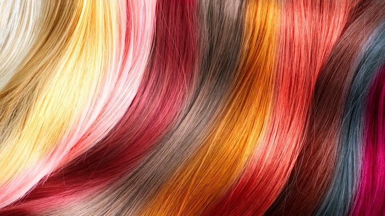 various hair tints