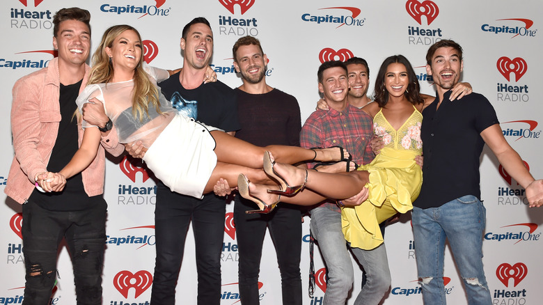 Bachelor cast members meeting at iHeart Radio