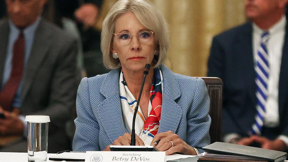 Betsy DeVos testifying