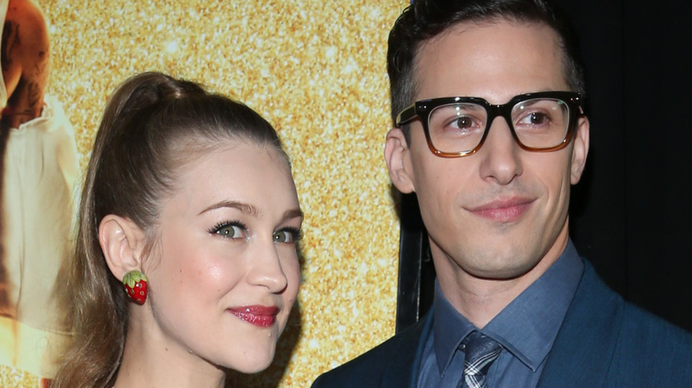 Joanna Newsom and Andy Samberg attending an event together