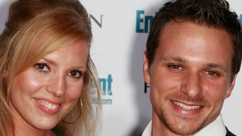 Lea Lachey smiles with husband Drew Lachey