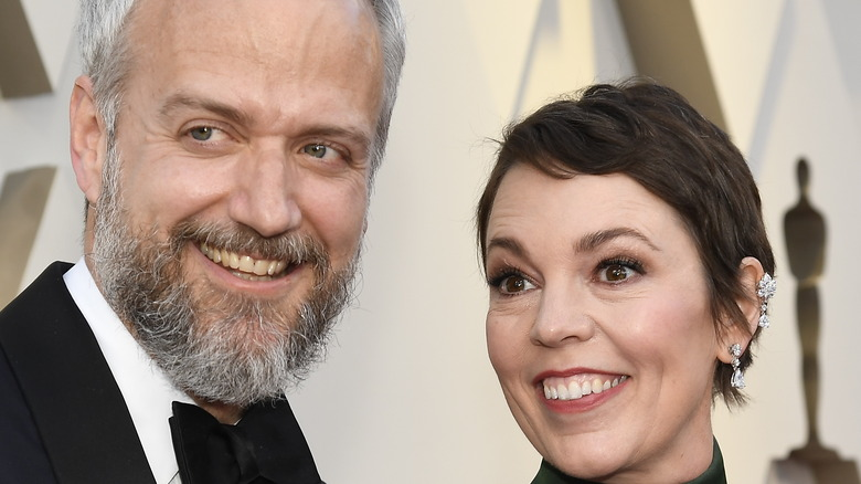 Ed Sinclair and Olivia Colman at the 2019 Oscars