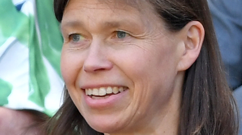 Lady Sarah Chatto smiles at an event