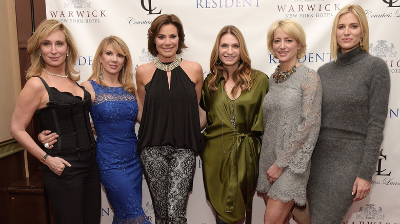 RHONY cast posing for pictures