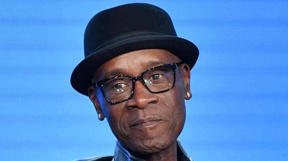 Don Cheadle hat and glasses