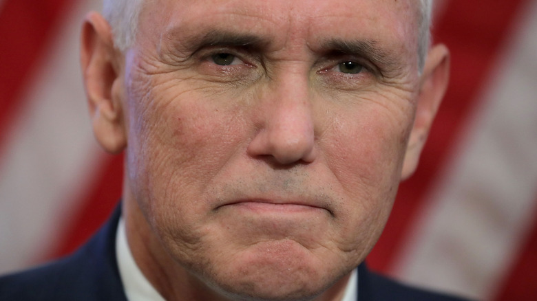 Mike Pence close-up frowning