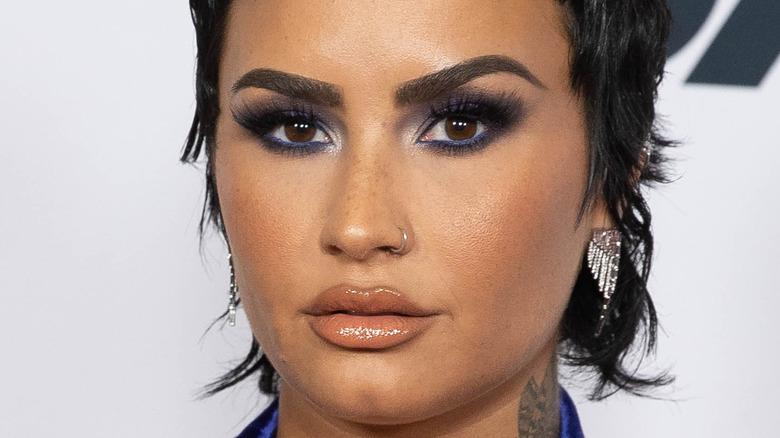 close up of Demi Lovato