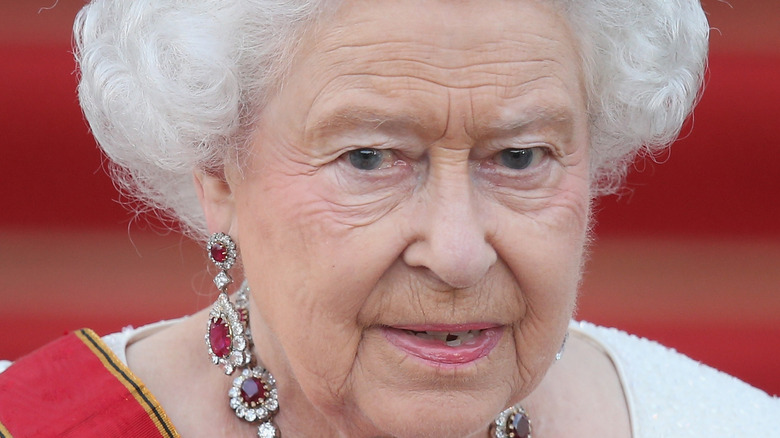 Queen Elizabeth at a formal event