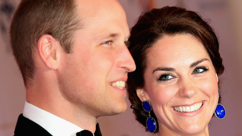 Prince William and Kate Middleton at an event