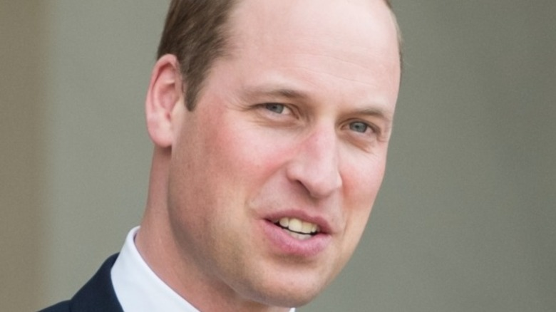 Prince William with white collar