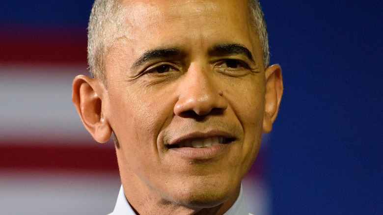 Former President Barack Obama smiling