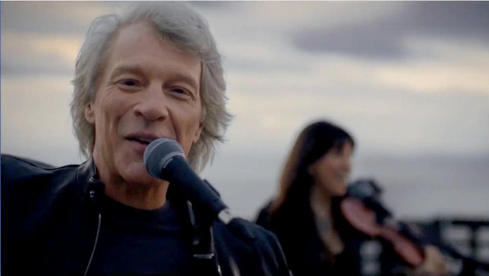 Jon Bon Jovi performing at Celebrating America