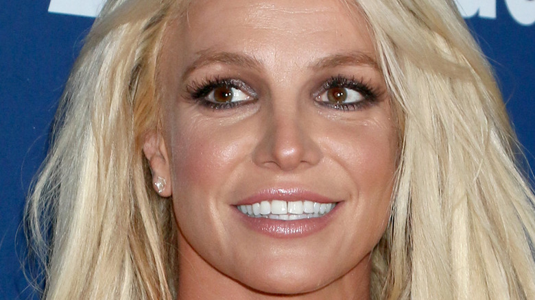 Britney Spears smiling with hair down