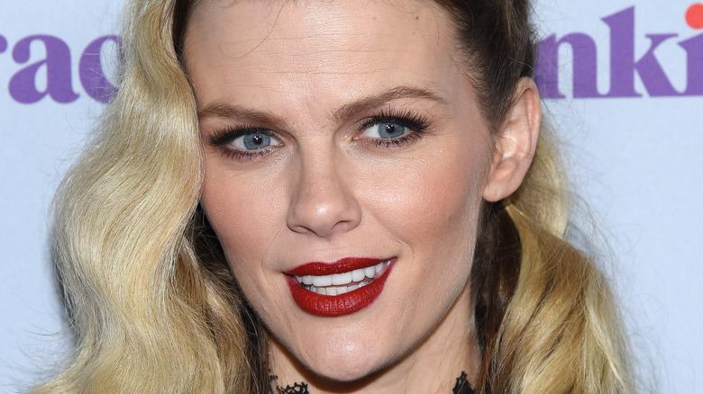 Brooklyn Decker wears red lipstick