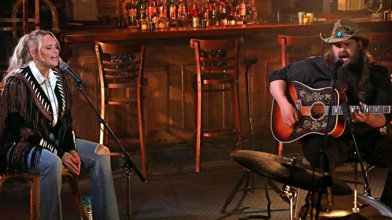 Miranda Lambert and Chris Stapleton performing together at ACMs