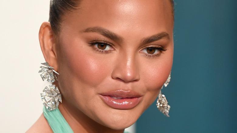 Chrissy Teigen close up