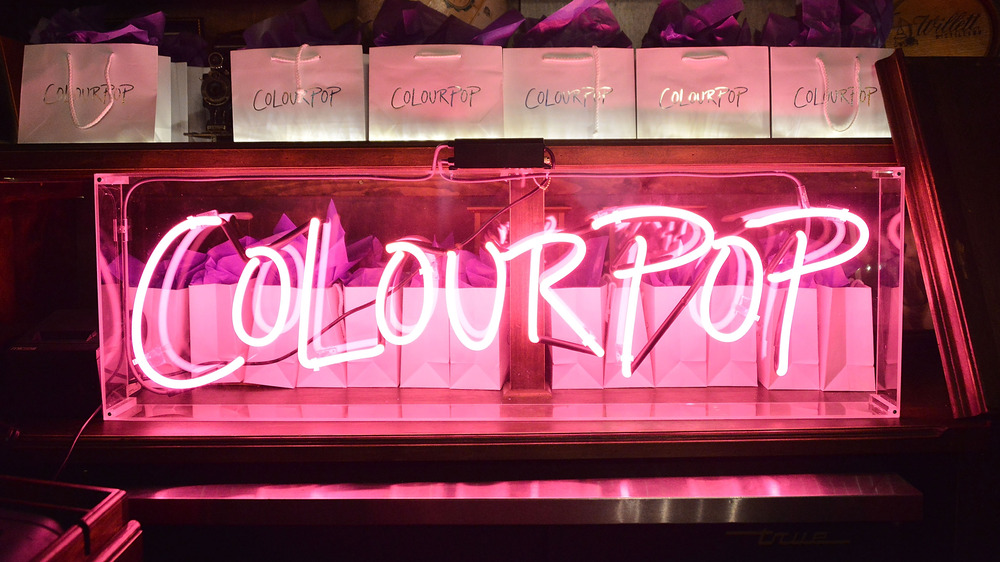 ColourPop pink neon sign