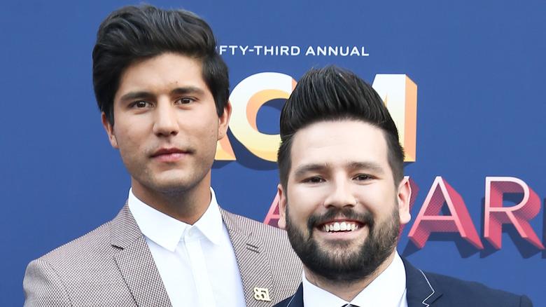 Dan + Shay with signature hairdos