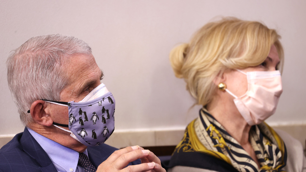 Fauci and Birx at a Trump coronavirus news briefing