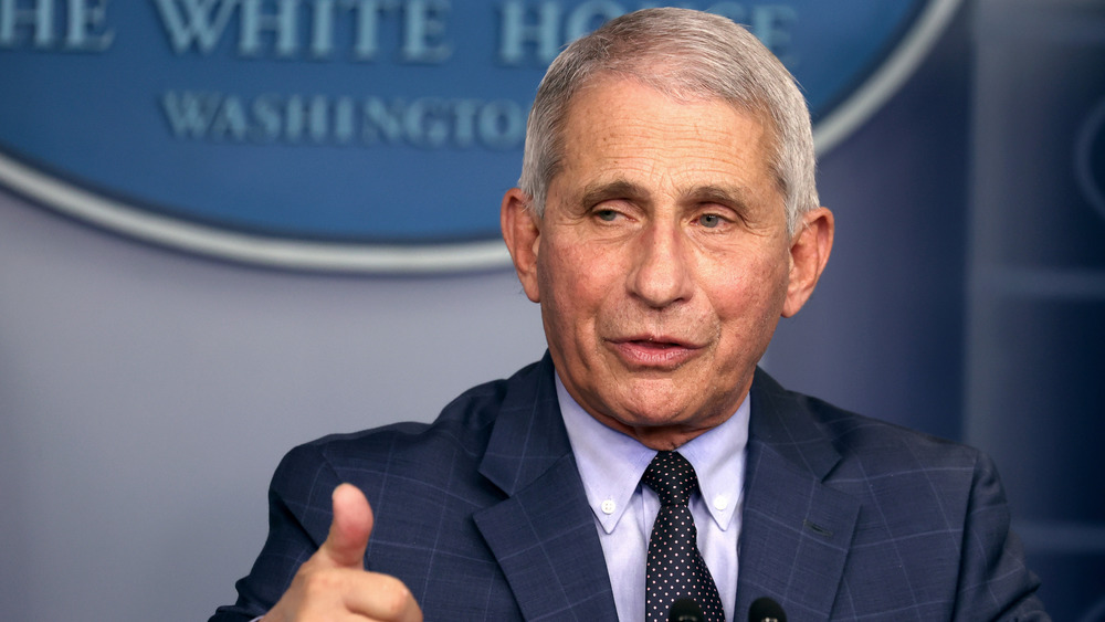 Dr. Fauci giving thumbs up