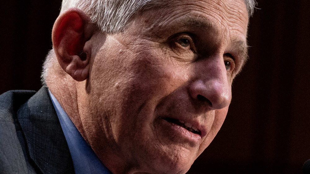 Dr. Anthony Fauci looking serious