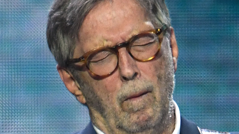 Eric Clapton performing in 2020