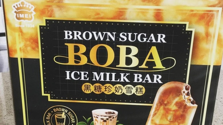A package of boba ice cream bars