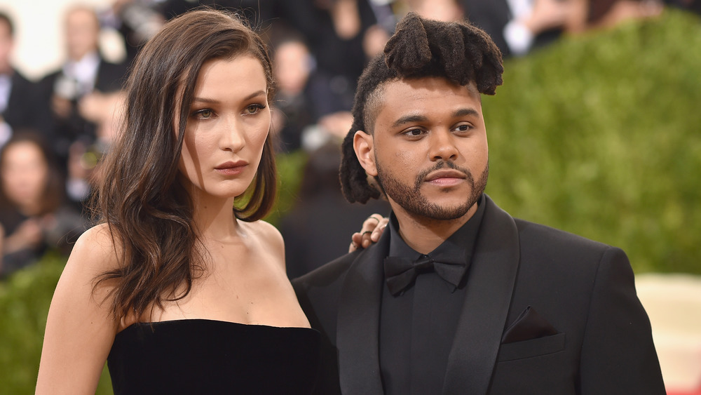 The Weeknd attends an event with girlfriend Bella Hadid