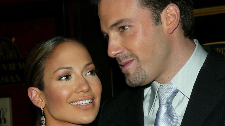 Jennifer Lopez and Ben Affleck at an event.