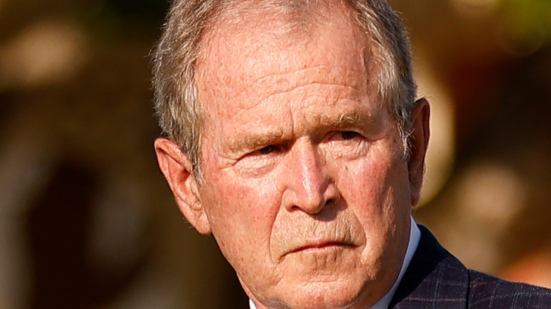 former president george w bush in may 2021
