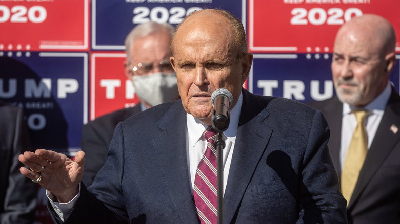 Rudy Giuliani at Four Seasons Total Landscaping