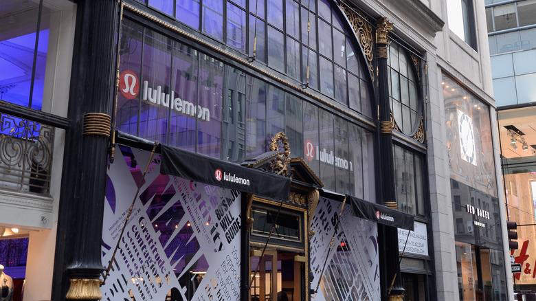 Exterior of Lululemon's flagship store