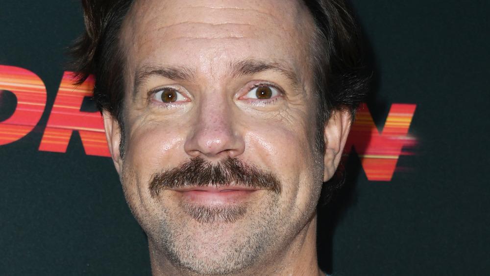 Jason Sudeikis with mustache