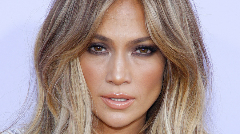 Jennifer Lopez poses at the Billboard Awards