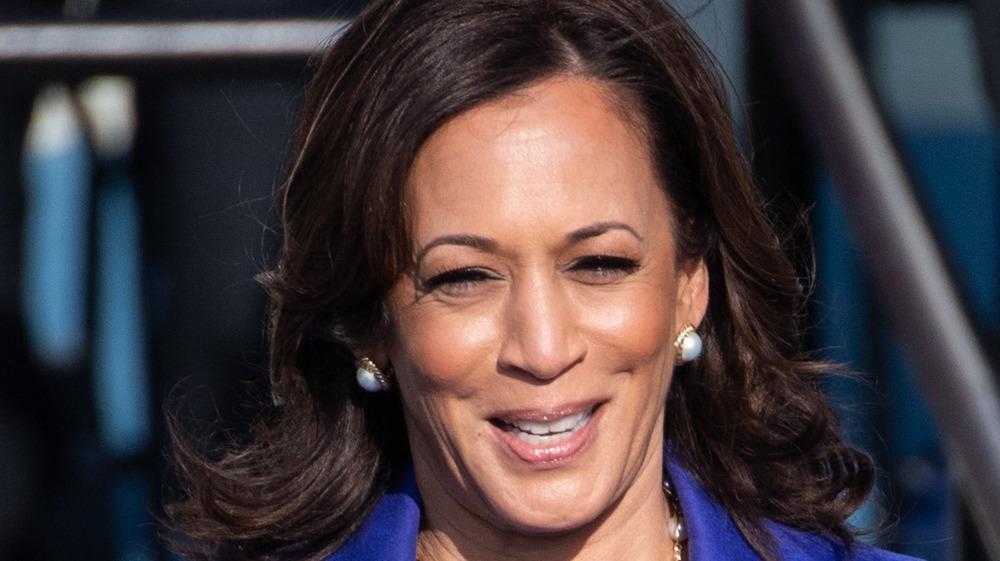 Kamala Harris smiling on Inauguration day