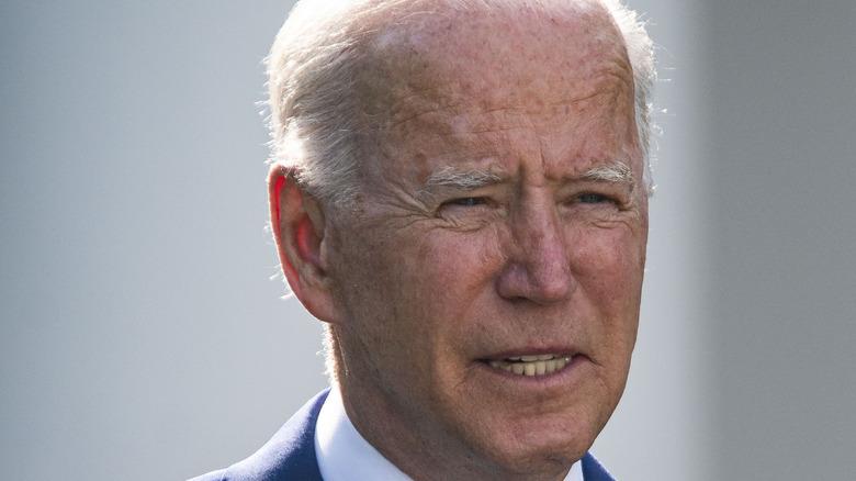 Joe Biden at the White House Rose Garden