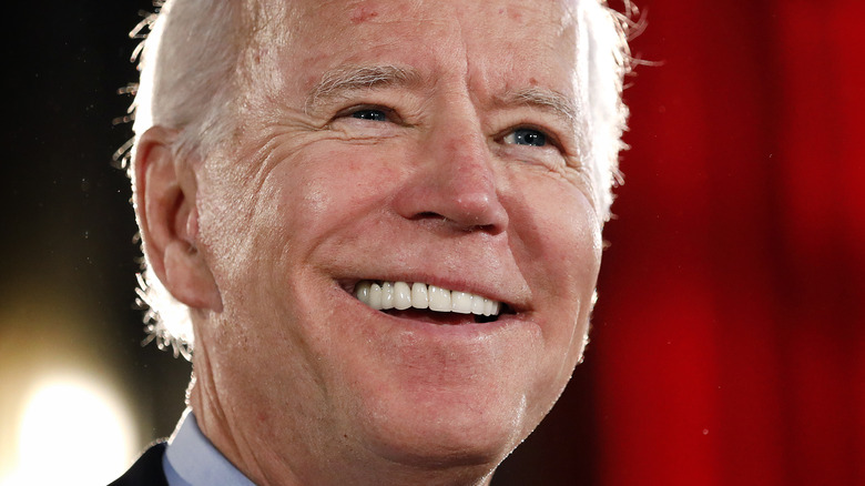 President Joe Biden laughs